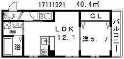 東加賀屋アパートメント[1階]の間取り