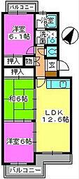 カワサキ春日ハイツ[3階]の間取り