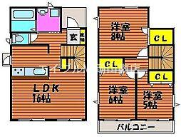 [一戸建] 岡山県岡山市中区山崎丁目なし の賃貸【/】の間取り