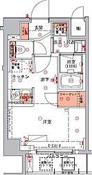 東京メトロ半蔵門線 水天宮前駅 徒歩5分の賃貸マンション 5階1Kの間取り