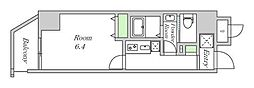 Osaka Metro谷町線 中崎町駅 徒歩3分の賃貸マンション 4階1Kの間取り