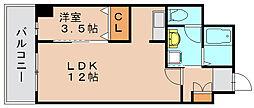 グランアミティエ[2階]の間取り