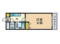 ベアージュ博多[6階]の間取り