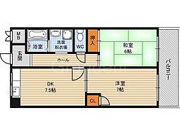 シティーガーデン鶴見[7階]の間取り