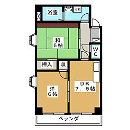 ジュネス千代田[2階]の間取り
