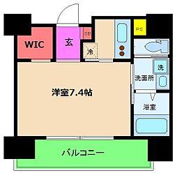 レジュールアッシュ梅田WEST[11階]の間取り