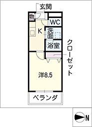 セピアコート3[1階]の間取り
