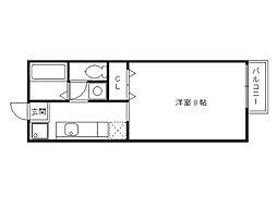 クレスト松ヶ崎[2階]の間取り