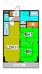 シンハイム武蔵浦和[2階]の間取り
