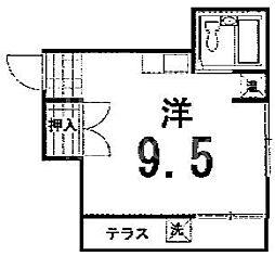 三宅アパートB棟[202号室号室]の間取り