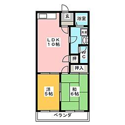 メゾンクレージュ[1階]の間取り