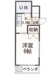ハイツ平山[3階]の間取り