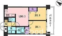 CONDUCT 福岡[4階]の間取り