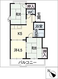 K・N・Cハウス[2階]の間取り