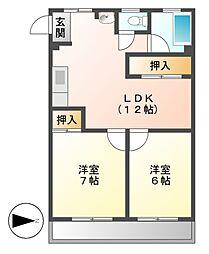 第1三鈴ビル[4階]の間取り