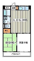 塚本ニューコーポ[502号室]の間取り