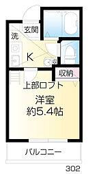 ラビングパレス西武柳沢[302号室]の間取り