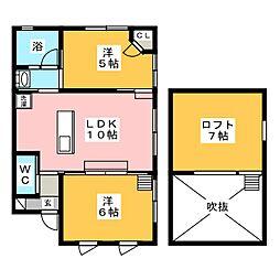 アーバンストリートテルノ[2階]の間取り