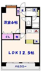 SATOMI-4番館[702号室]の間取り