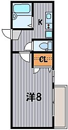 神奈川県横浜市鶴見区市場西中町の賃貸マンションの間取り