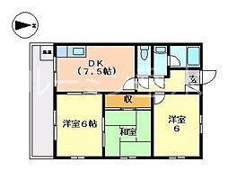 ビルトータス[4階]の間取り