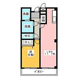 パークサイドガーデン[2階]の間取り