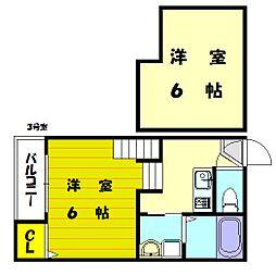 ブリリアント3[2階]の間取り