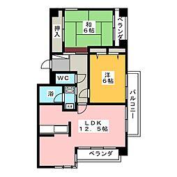 浅井コーポV[2階]の間取り