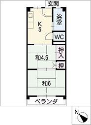 川島ビル[4階]の間取り
