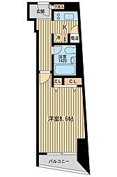 HF三田レジデンス[1001号室]の間取り