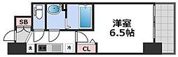 ララプレイス天王寺シエロ 14階1Kの間取り