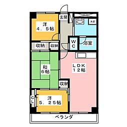 泉ヶ丘ハイツI[1階]の間取り