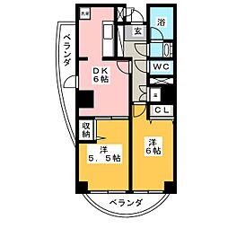 ロイヤルヒルズ表柴田[5階]の間取り