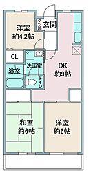 ヒルサイドテラス鶴ヶ島[3階]の間取り
