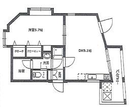 ル・パラディ坂戸[4階]の間取り