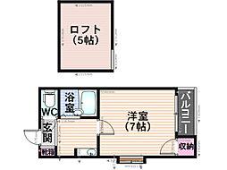 メゾネット桜ヶ丘[201号室]の間取り