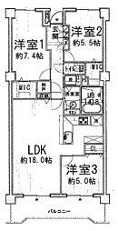 LDKは広々約18帖。随所の収納にこだわった、WIC2ヶ所・全室収納付のファミリー向け3LDKです。