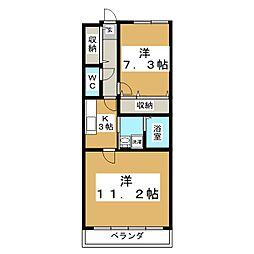 カメリア・ヒルズ中山台[3階]の間取り