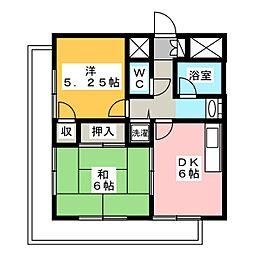 ダイアパレスステーションサイド静岡1号館1002号[10階]の間取り