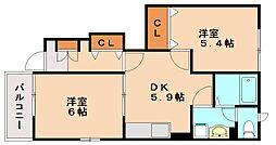 サモア1[1階]の間取り