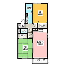 セジュール宝町 B棟[1階]の間取り
