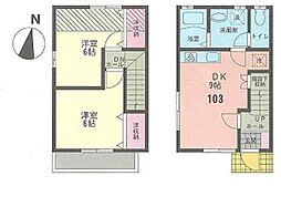 [テラスハウス] 神奈川県横浜市緑区東本郷3丁目 の賃貸【/】の間取り