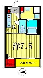 東武亀戸線 小村井駅 徒歩6分の賃貸マンション 1階1Kの間取り