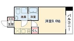 大阪府大阪市中央区東高麗橋2丁目の賃貸マンションの間取り