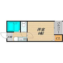 マンションK2[4階]の間取り
