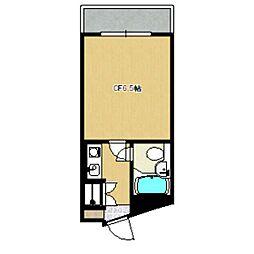 東京都世田谷区駒沢2丁目の賃貸マンションの間取り