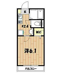 Wing湘南[2階]の間取り