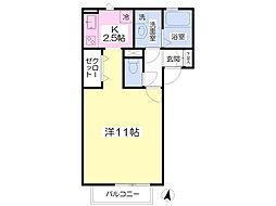 JR豊肥本線 光の森駅 バス11分 武蔵丘北口下車 徒歩3分の賃貸アパート 1階1Kの間取り
