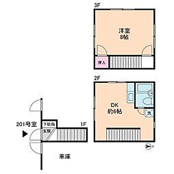 サンハウス瑞恵[2階]の間取り