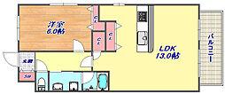 コートサニーヒル赤坂[3階]の間取り